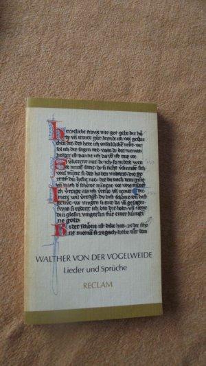 Lieder und Sprüche. Auswahl mittelhochdeutsch-neuhochdeutsch (RUB, 99) Reclam