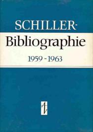Schiller-Bibliographie 1959-1963 (EA) / Erwerb nur zusammen mit BN0113 (s.u.)