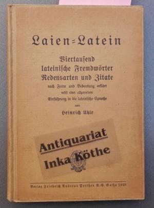 Antiquarisches Buch Uhle Heinrich Laien Latein  Viertausend Lateinische Fremdworter Vergrosern
