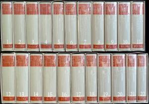 Kindlers neues Literatur-Lexikon., Herausgegeben von Walter Jens. 17 Bände A-Z und 5 Bände Register/Essays/Suplement. 22 Bände (komplett). [Halblederausgabe].