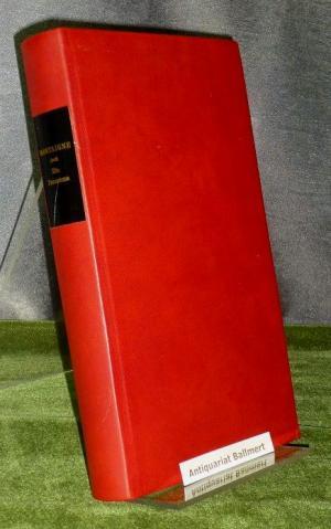 Montaigne, ein Panorama., Die Andere Bibliothek, Band 85. Nummer 80 von 999 Exemplaren. Leder-Ausgabe. - Greffrath, Mathias