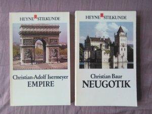 Heyne Stilkunde, Band 26: Neugotik / Band 7 Empire / 2 Bücher zusammen