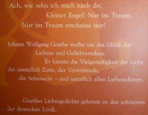 Ach Wie Sehn Ich Mich Nach Dir Die Schönsten Liebesgedichte Von Johann Wolfgang Goethe