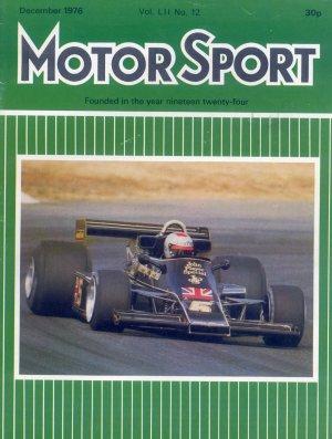 Bildtext: Motor Sport Magazine 12 / 1976 - Ferrari 308 GTB - The Formula One scene - 2.3-litre Monza Alfa Romeo - VW-Cosworth V8... von diverse