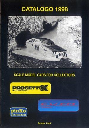 Bildtext: Progetto - pinKO automodelli - Exem 1:43  Katalog 1998 von diverse