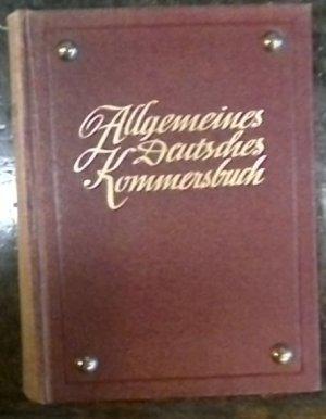 Allgemeines Deutsches Kommersbuch - Schauenburg 1956 - rotbraun/8 Biernaegel/3Farb-Schnitt/Wappen