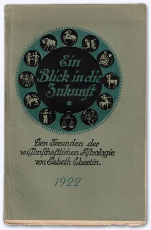 """a2845c4156e341 Ein Blick in die Zukunft"""" (Elsbeth Ebertin) – Buch antiquarisch ..."""