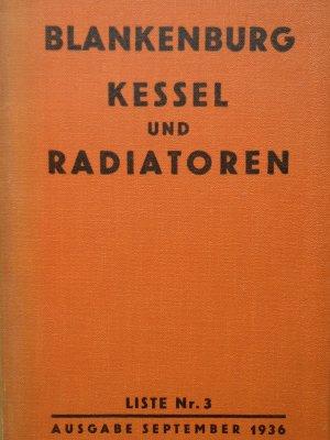 """Blankenburg Kessel und Radiatoren"""" – Buch antiquarisch kaufen ..."""