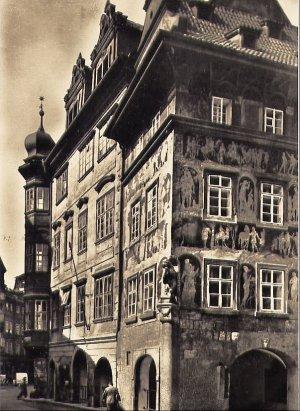 """Ansichtskarte Postkarte Prag Praha - Altstadt, Das Renaissance-Haus """"Bei der Minute"""" (1603)"""