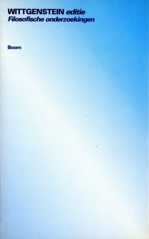 Bildtext: Filosofische onderzoekingen - Wittgenstein editie von Ludwig Wittgenstein, Derksen, Maarten & Terwee