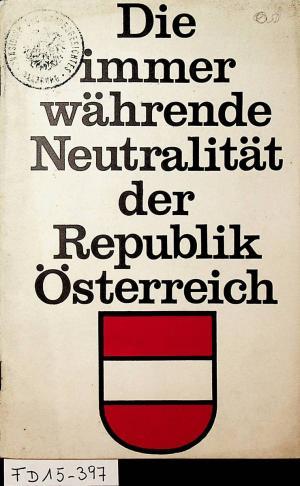 Die Immerwährende Neutralität Der Republik österreich Alfred