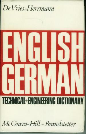 Isbn 387097043x technical and engineering dictionary for Dictionary englisch deutsch