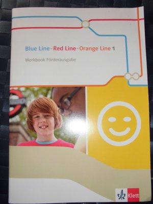 Blue Line - Red Line - Orange Line 1 / Workbook Förderausgabe 5. Klasse - Begleitmaterial zu allen Klett Englischlehrwerken außer Green Line