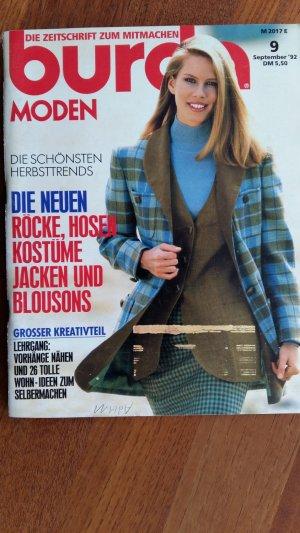 burda Moden 9/92 + Fertigschnitt für 6 Jacken - Schnittmuster ...