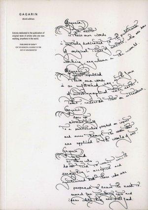 Bildtext: GAGARIN third edition - Volume 2 #1 - the artists in their own words von GIUSEPPE PENONE, BHUPEN KHAKHAR, STAN DOUGLAS, TSUYOSHI OZAWA, ANRI SALA, MICHEL FRANCOIS, WILLEM OOREBEEK, SIMON PATTERSON