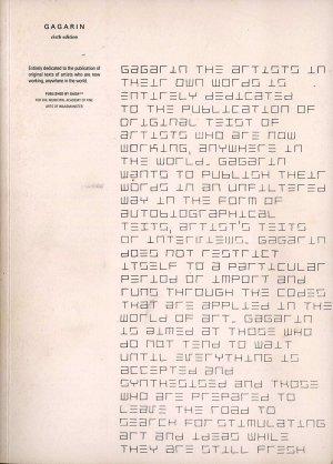 Bildtext: GAGARIN sixth edition - Volume 3 #2 - the artists in their own words von SURASI KUSOLWONG, PATRICK CORILLON, CHRISTOPH FINK, MARK MANDERS, KEN LUM, NEDKO SOLAKOV, AYSE ERKMEN, OLAF PROBST