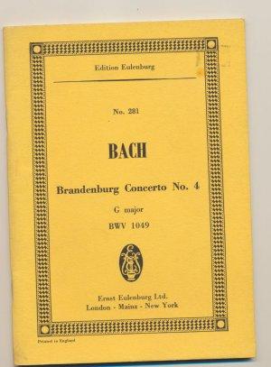 Brandenburg Concerto No.4 in G Major, BWV 1049 - Roger Fiske - Studienpartitur