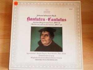"""Bach: Kantaten """"Ein feste Burg ist unser Gott"""", BWV 80 & """"Wachet auf, ruft uns die Stimme"""", BWV 140 (Vinyl LP) (Schallplatte)."""