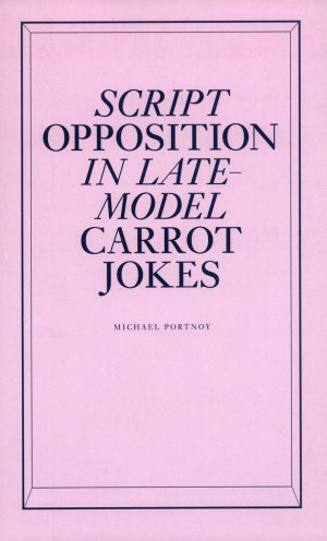 Bildtext: Script Opposition in Late-Model Carrot Jokes - Objectif Exhibitions 21. Mai bis 2. Juli 2011 von Michael Portnoy