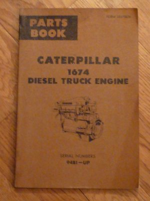 caterpillar 1674 diesel truck engine  serial numbers 94b1-up  parts book   form UE070076