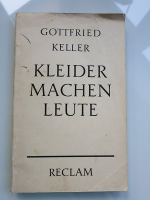 Kleider Machen Leute Novelle Gottfried Keller Buch