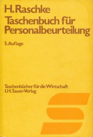 """Taschenbuch für Personalbeurteilung"""" (Harald Raschke) – Buch ..."""