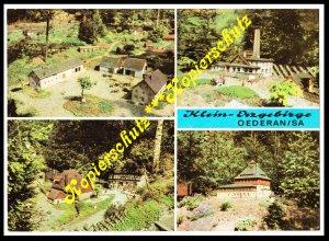 Klein-Erzgebirge Oederan/Sachsen, 4 Motive, Ansichtskarte 1974, gelaufen