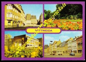 Mittweida, Ansichtskarte 4 Motive, Fotos Seyffarth, Karl-Marx-Stadt, 1983 ungelf
