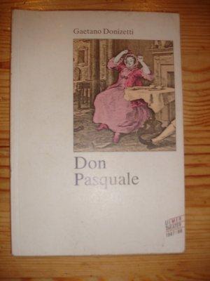 Ulmer Theater Don Pasquale - Programmheft 1987/88. 80 Seiten