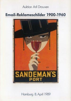 Bildtext: Email Reklameschilder 1900-1960 Auktion Aril Drouven mit Ergebnisliste Auktion 8.04.1989 von Auktion Aril Drouven