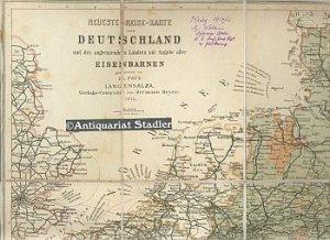 Neueste Reise Karte Von Deutschland Und Den Angrenzenden Landern