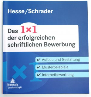 """Das 1x1 der erfolgreichen schriftlichen Bewerbung"""" (Hesse Jürgen ..."""