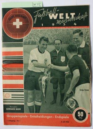 Coupe Jules Rimet Fussball Weltmeisterschaft 1954 Einzige Genehmigte Sonderausgabe Der V Weltmeisterschaft Gruppenspiele Entscheidungen