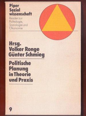 Bildtext: Politische Planung in Theorie und Praxis von Volker Ronge, Gnter Schmieg