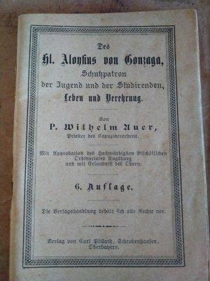 Des hl. Aloysius von Gonzaga, Schutzpatron der Jugend und der Studierenden, Leben und Verehrung