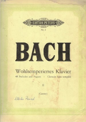 Wohltemperiertes Klavier II. 48 Preludes and Gugus