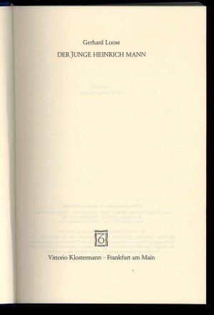 Der junge Heinrich Mann