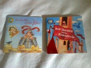 2 x Minibuch Linobücher Coppenrath - Rudi Hasenfuß und der Riesendrache / Der furchtbar verliebte Ritter (ähnlich PIXI Bücher)