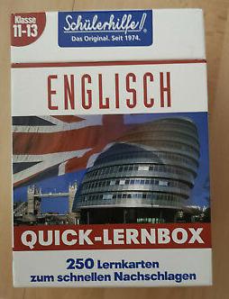 Bildtext: Quick-Lernbox Englisch, Klasse 11-13 von