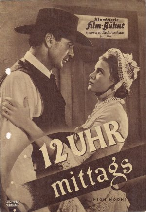 Illustrierte Film Bühne 1786 12 Uhr mittags Gary Cooper Grace Kelly um 1960