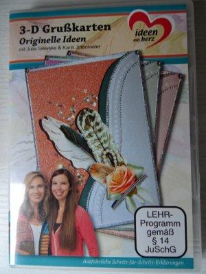 3-D Grußkarten: Originelle Ideen, Julia Sieweke & Karin Jittenmeier, 80 Min., DVD