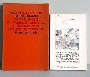 Stenogramm - Erzählungen mit farbigen Original-Graphiken von Wolfgang Zeiszner / Unterwegs in Deutschland - Mit Graphiken von Heinz Balthes - 2 Titel