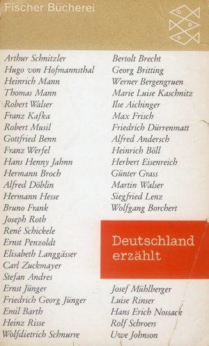 Bildtext: Deutschland erzählt von Benno von Wiese (Herausgeber)