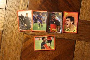 Panini/Carrefour BELGIAN RED DEVILS 2014 FUSSBALL WM. Konvolut von 5 Karten (1 blinkend)