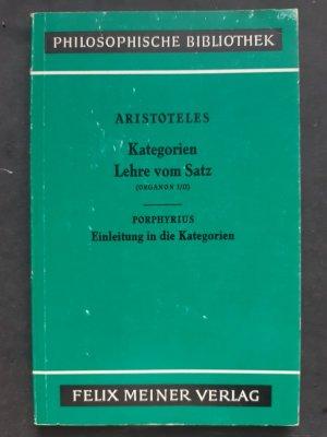 aristoteles organon kategorienlehre