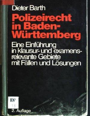 """""""Polizeirecht in Baden-Württemberg Eine Einführung in ..."""