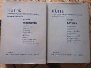 Hütte. Taschenbuch für Betriebsingenieure (Betriebshütte ...