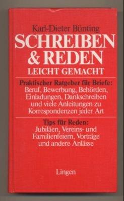 Schreiben Reden Leicht Gemacht Karl Dieter Bünting Buch