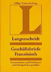 Langenscheidt Geschäftsbriefe Geschäftsbriefe Französisch Buch