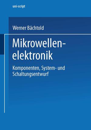 "Mikrowellenelektronik"" (Prof Dr) – Buch gebraucht kaufen – A02fJGOf01ZZC"
